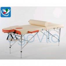Массажный стол Кремовый (осн)+оранжевый ErgoVita MASTER ALU