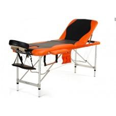 Массажный стол складной 3-с ал Atlas sport чёрно-оранжевый