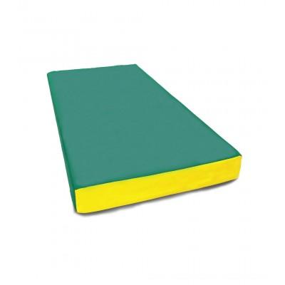 """Мат № 1 (100 х 50 х 10) """"КМС"""" зелёно/жёлтый"""