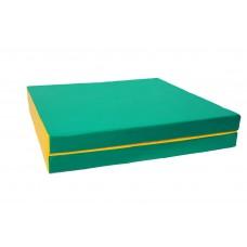 "Мат № 10 (100 х 150 х 10) складной 1 сложение ""КМС"" зелёно/жёлтый"
