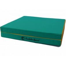 """Мат № 10 (100 х 150 х 10) складной 1 сложение """"PERFETTO SPORT"""" зелёно/жёлтый"""