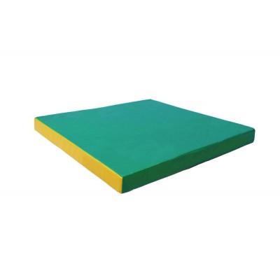 """Мат № 2 (100 х 100 х 10) """"КМС"""" зелёно/жёлтый фото"""