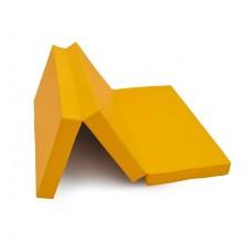 """Мат № 4 (100 х 150 х 10) складной """"КМС"""" жёлтый"""