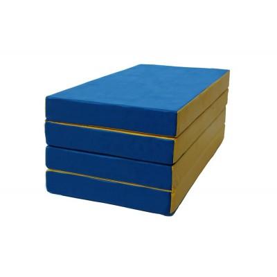 "Мат № 5 (100 х 200 х 10) складной 3 сложения ""КМС"" сине/жёлтый"
