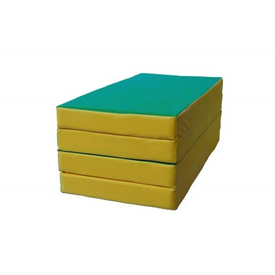 "Мат № 5 (100 х 200 х 10) складной 3 сложения ""КМС"" зелёно/жёлтый"