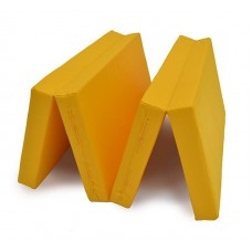"Мат № 5 (100 х 200 х 10) складной 3 сложения ""КМС"" жёлтый"