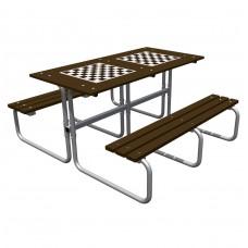 Стол со скамьями шахматный Романа 302.06.00-01