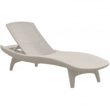 Шезлонг лежак KETER Sun Lounger Pacific, белый