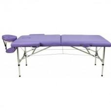 Складной 2-х секционный алюминиевый массажный стол RS BodyFit, фиолетовый