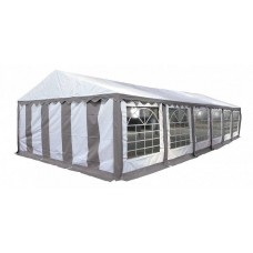 Тент-шатер ПВХ 5x12м, С62403/P512201GR,  цвет белый с серым