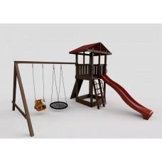 """Детская игровая площадка с качелями и горкой 2,2 м """"Непоседа"""" Модель 2"""