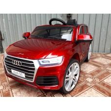Детский электромобиль WINGO AUDI Q5 LUX (Лицензионная модель) Красный лакированный
