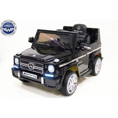 Детский электромобиль WINGO MERCEDES G65 LUX (Лицензионная модель) Черный