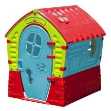 Домик Лилипут 680 голубой/зелёный/красный