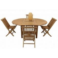 Комплект садовой мебели Sundays (стол 120-170*120, стулья без подушек) TGF-013/001