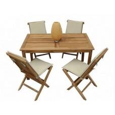 Комплект садовой мебели Sundays (стол 140*80, 4 стула, сидение+спинка) TGF-052/001FC