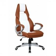 Офисное кресло Calviano CARRERA коричнево-белое NF-6623