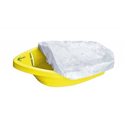 """Песочница-бассейн """"Лодочка с покрытием"""" 311 жёлтый фото"""