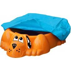 """Песочница-бассейн """"Собачка с покрытием"""" 431 оранжевый"""