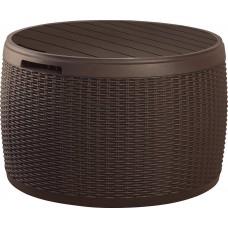 Стол - сундук CIRCA RATTAN BOX, коричневый