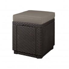 """Стул уличный """"Cube"""" (Куб с подушкой), коричневый"""