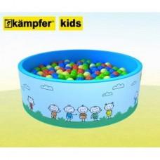Сухой бассейн Kampfer Kids [голубой + 100 шаров]