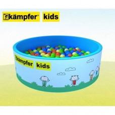 Сухой бассейн Kampfer Kids [голубой + 200 шаров]