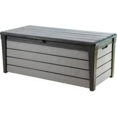 Сундук пластиковый уличный 120 Brush Deck Box (Браш), графит