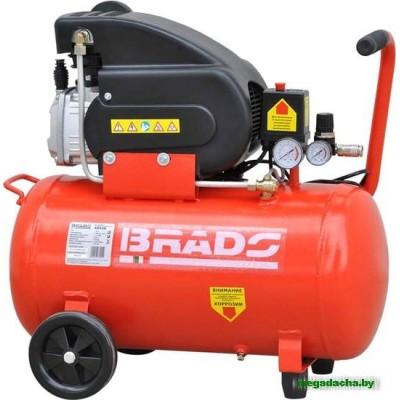Воздушный компрессор BRADO AR50B (до 260 л/мин, 8 атм, 50 л, 220 В, 1.80 кВт)