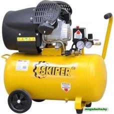 Воздушный компрессор SKIPER AR50V (до 400 л/мин, 8 атм, 50 л, 220 В, 2.2 кВт)