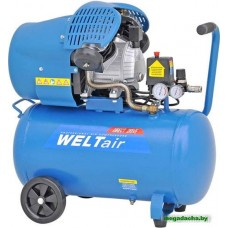 Воздушный компрессор WELT AR50VT (до 400 л/мин, 8 атм, 50 л, 220 В, 2.2 кВт)