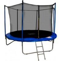 Батут Happy Jump 10ft-i PRO (312см) с внутренней сеткой и лестницей