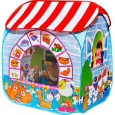 """CBH-32 Игровой домик """"Детский магазин"""" + 100 шариков CBH-32 синий"""