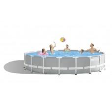 Каркасный бассейн 26724 Intex PRISM FRAME 457х107см +фильтр-насос 3765 л.ч, летница, тент, подстилка