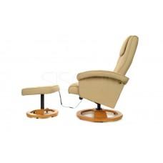Массажное кресло с пуфом Calviano TV Комфорт (бежевое)