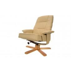 Массажное кресло с пуфом Calviano TV Relax (белое)