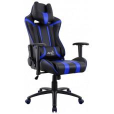 Офисное кресло Aerocool AC120 AIR-BB черно-синий с перфорацией
