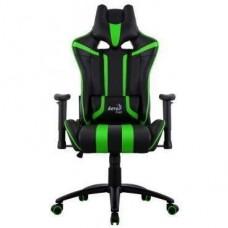 Офисное кресло Aerocool AC120 AIR-BG черно-зеленый с перфорацией