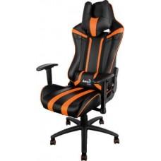 Офисное кресло Aerocool AC120 AIR-BO черно-оранжевый с перфорацией