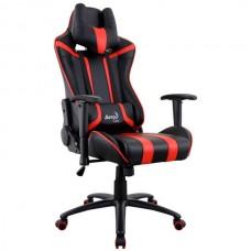 Офисное кресло Aerocool AC120 AIR-BR черно-красный с перфорацией