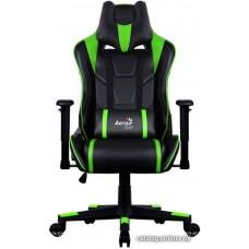 Офисное кресло Aerocool AC220 AIR-BG черно-зеленый с перфорацией