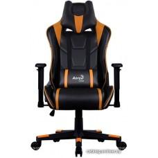 Офисное кресло Aerocool AC220 AIR-BO черно-оранжевый с перфорацией