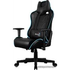 Офисное кресло Aerocool AC220 RGB-B черный с перфорацией                         RGB подсветка
