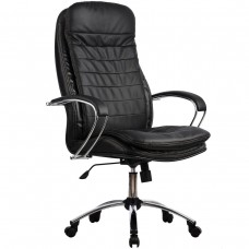 Офисное кресло LK-3CH 721 Черная кожа