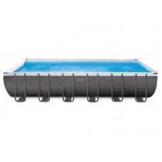 Прямоугольный каркасный бассейн Ultra Frame 732х366х132см, 26364 Intex