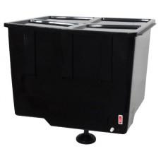 Бак для летнего душа с подогревом ЭВБО-55 ЭлБЭТ  с металлическим краном