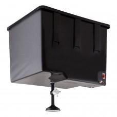 Бак для летнего душа с подогревом ЭВБО-55 ЭлБЭТ  с металлическим краном (уровень воды)