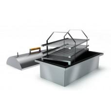 """Коптильня двухъярусная с гидрозатвором из нержавеющей стали с купольной крышкой """"Smoky Lux 55"""""""