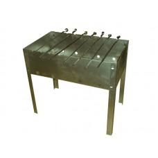 Мангал разборный Петромаш 500-300-450 + 6 шампуров