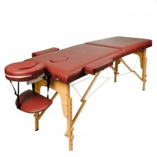 Массажный стол Atlas Sport складной 2-с деревянный 70 см бургунди